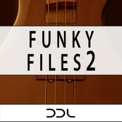 Funky Files 2 <br><br>– 20 Beat Loops, 10 Themes (Bass, Chords, Melody), 36 MIDI Files, 233 MB, 24 Bit Wavs.
