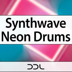 Synthwave Neon Drums <br><br>&#8211; 350 Drum One-Shots, 1 Ableton Live Set (Ableton 10.0.2 &#038; Higher Needed), 24 Bit Wavs.