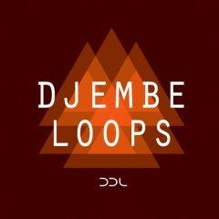 Djembe Loops <br><br>– 231 Loops (Traditional + Processed), 3 Kontakt Instruments (Full Version 5.4.1 & Higher), 347 MB, 24 Bit Wavs.