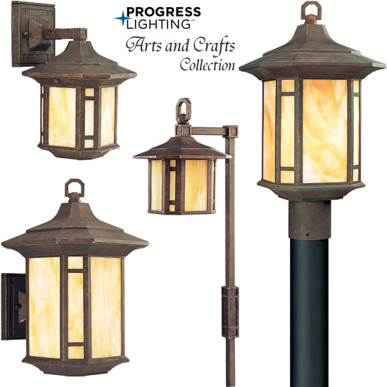 arts and crafts style outdoor lighting