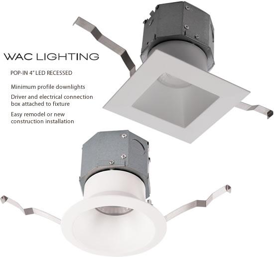 wac lighting pop in 4 recessed