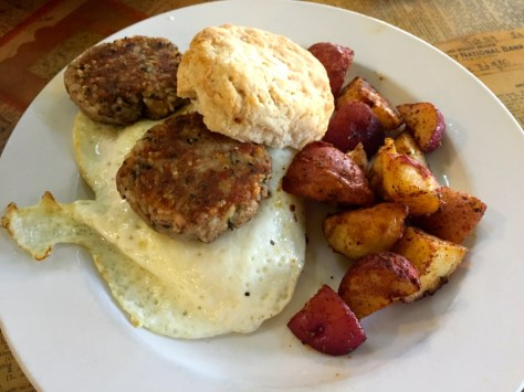 Boudin breakfast biscuit to feed the belly.