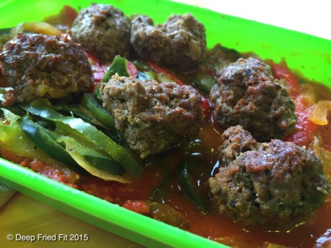 Beef Meatballs and Peppers. Had a nice heat to it. Wasn't the most filling though.