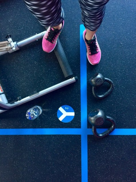 Cardio and kettle bells at Beyond500. One of my favorite places to sweat.