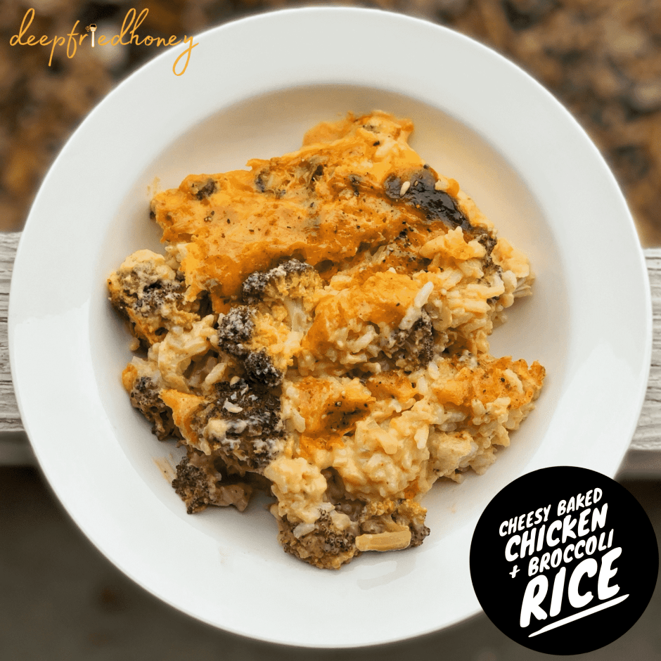 Cheesy Baked Chicken and Broccoli Rice