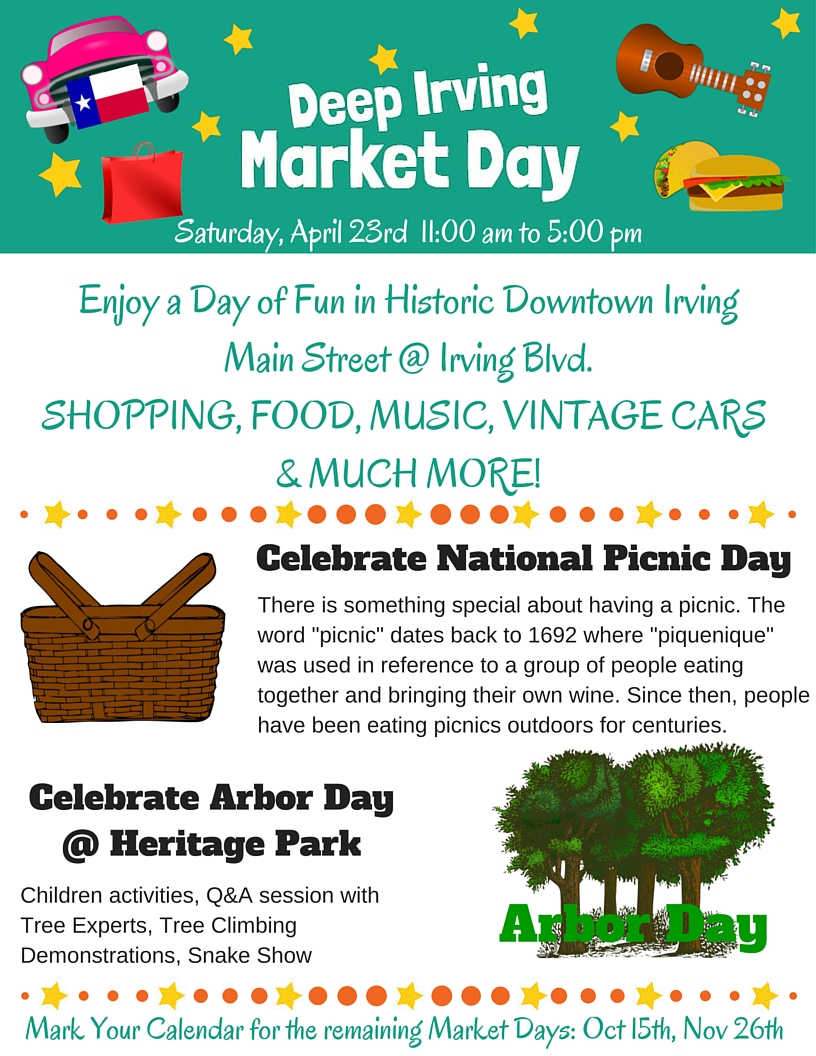 Deep Irving Market Day April 23 2016