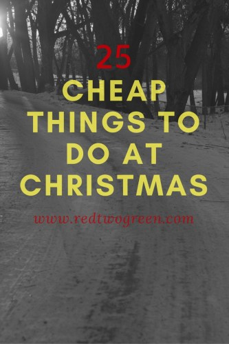 cheap or free christmas activities