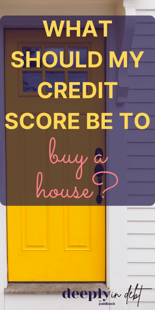 credit score to buy a house
