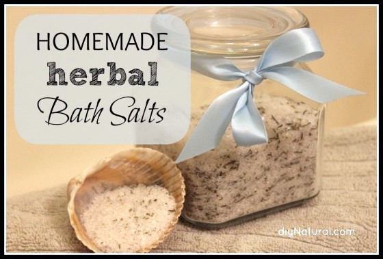 Herbal Bath Salts, homemade gift, Epsom salts