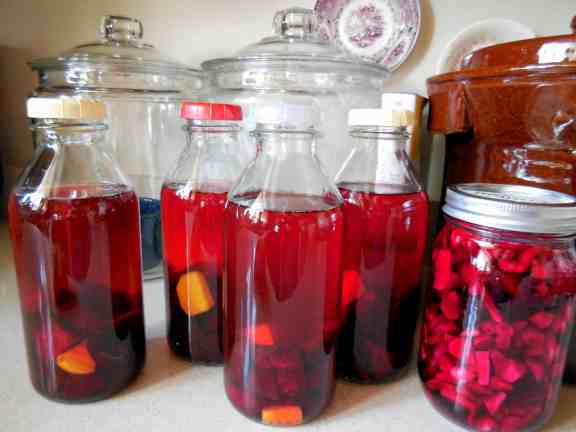 Pepper Juice~ Preventative Cold and Flu Remedy, Phytotherapy Research Laboratory, horseradish, ginger, onions, allium, hot peppers, elderberry tincture, beet kvass, tincture bottle, deafness, red beets, quart canning jars, 80 proof vodka, ACV, capsaicin, strep throat, health benefits of garlic, Dramamine, Double-E Immune booster, vanilla extract, DIY, homemaking, motherhood, chemistry in the kitchen, make your own, prevent sickness, flu season, inexpensive, vodka, ACV, extraction, alcohol, dark amber bottles, dose, menthol cough drops, natural,
