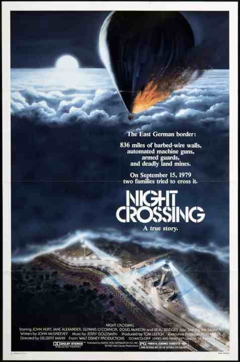 Disney Movie, Night Crossing, 1982, Beau Bridges, East and West Germany, the Berlin Wall,