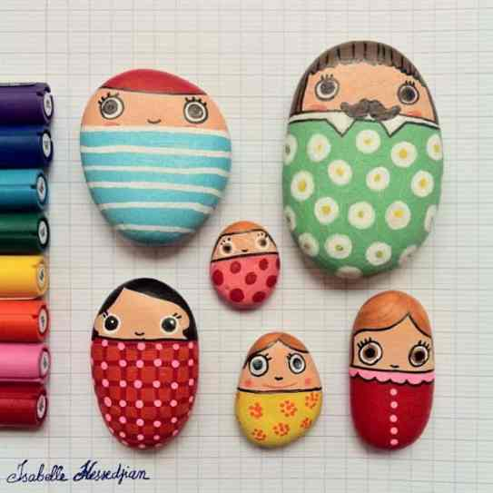 Painted Stones Paper Weights & Other Such Creations, mod podge, recipe, glue, art markers, herb markers, rocks, stones, pebbles, paper weights, creative art, stone fish, stone pets, stone family, rock art. decorative rocks, people rocks, hand-painted