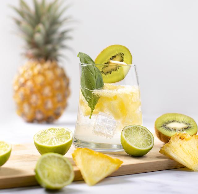 Recipe - Pineapple Basil Gin and Tonic