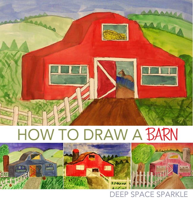How To Draw A Barn Deep Space Sparkle
