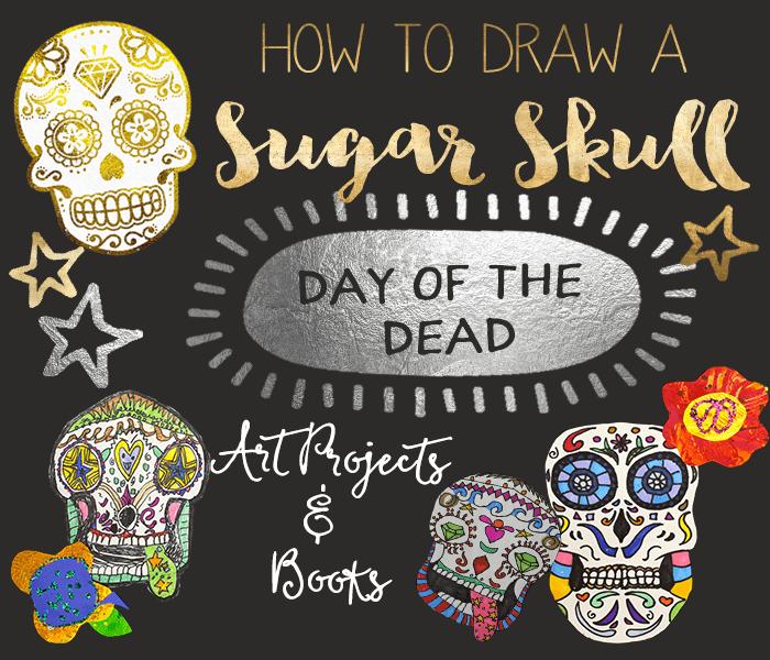Sugar Skulls Day Of The Dead Art Ideas Deep Space Sparkle