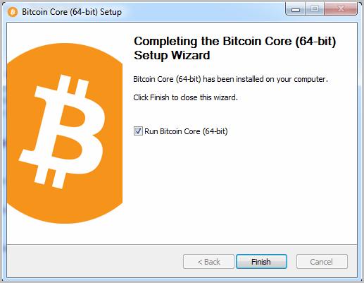 Bitcoin start installation 5