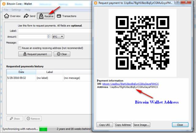 Bitcoin wallet address