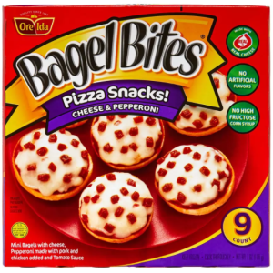 BAGEL BITES CHEESE AND PEPPERONI, 9CT
