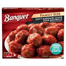 BANQUET MEATBALLS FAMILY SIZE, 25OZ
