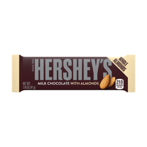 HERSHEY'S ALMOND CHOCOLATE BAR, 1.4OZ