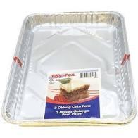 JIFFY FOIL OBLONG CAKE PANS, 2CT