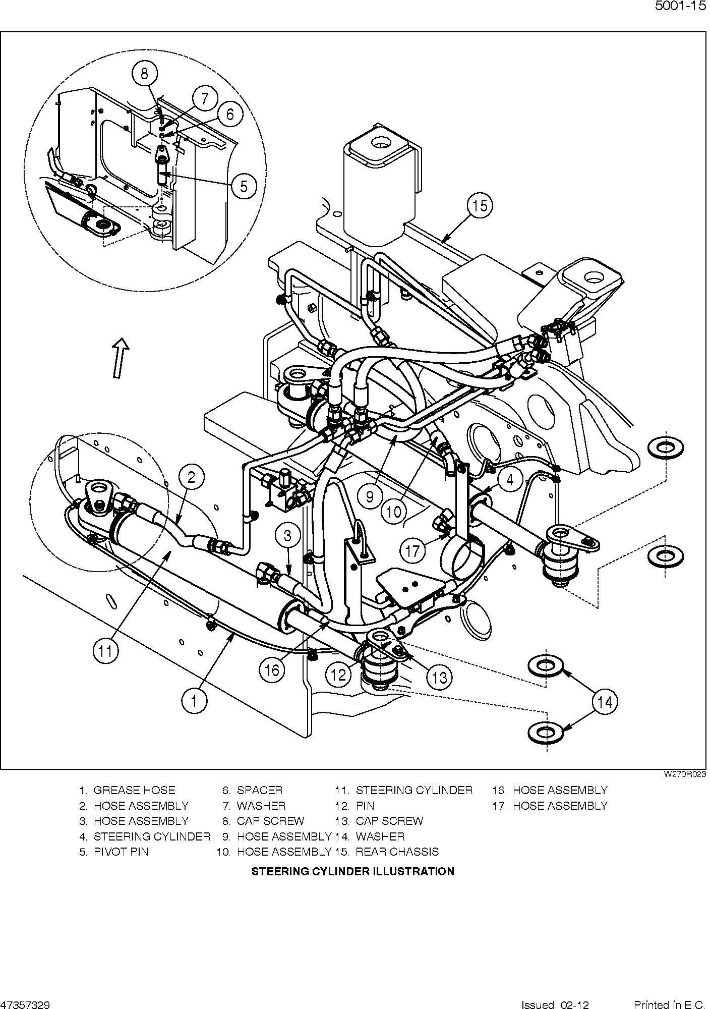 New Holland W270c W300c Tier 2 Wheel Loader Service