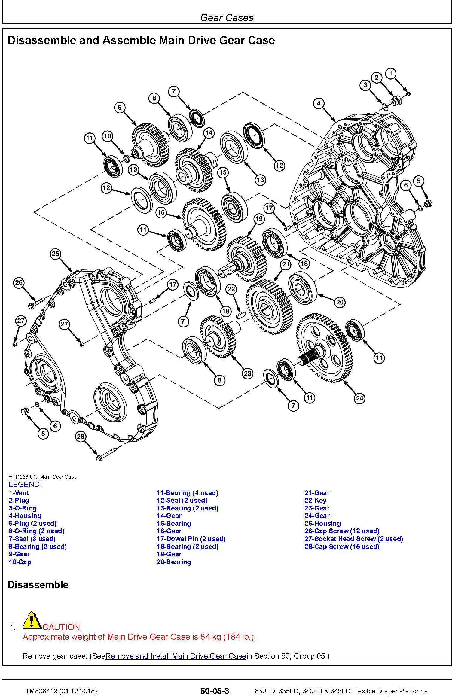 John Deere 630fd 635fd 640fd 645fd Flexible D R