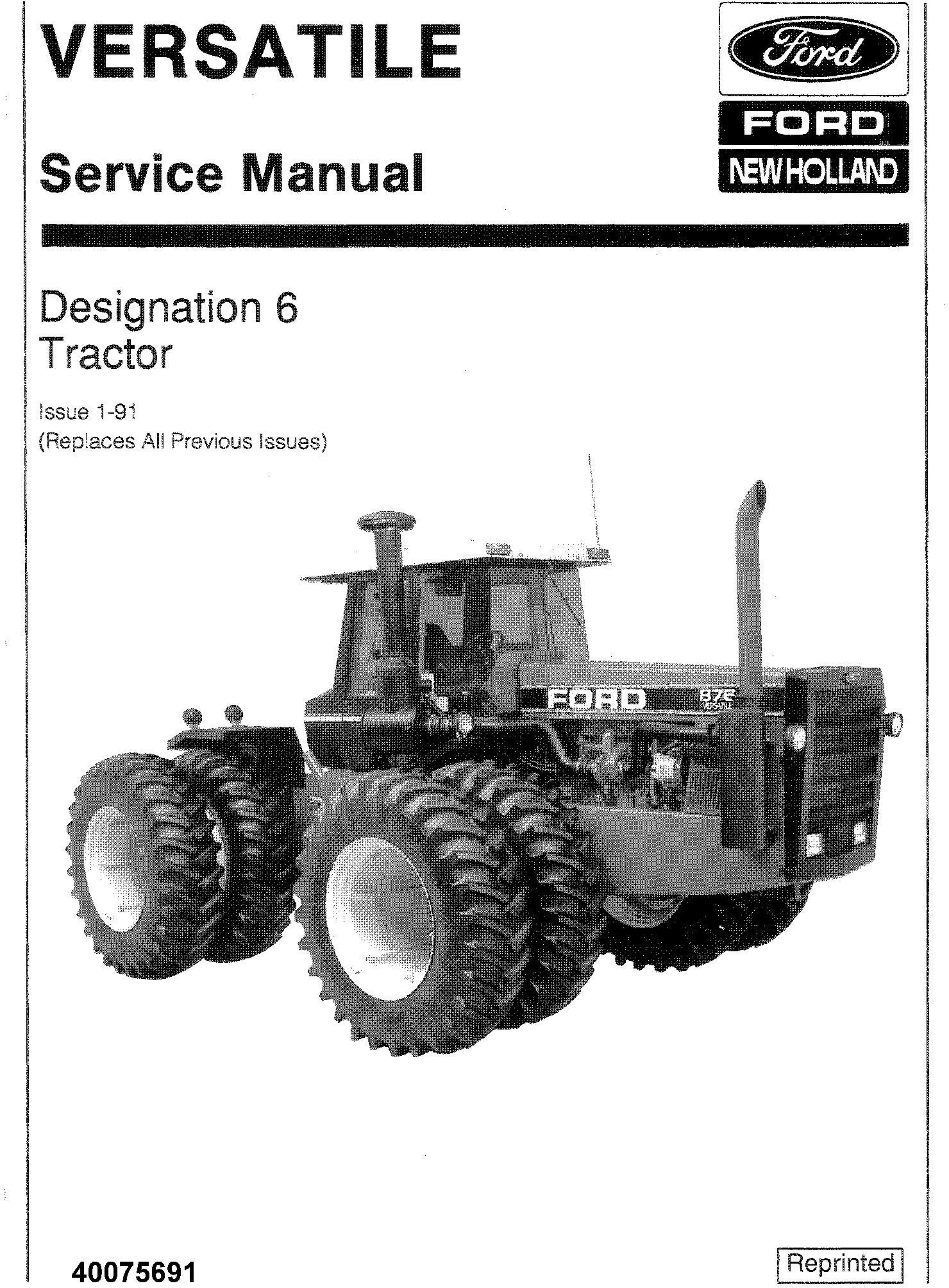 New Holland Ford Versatile 836 846 876 936 946 956