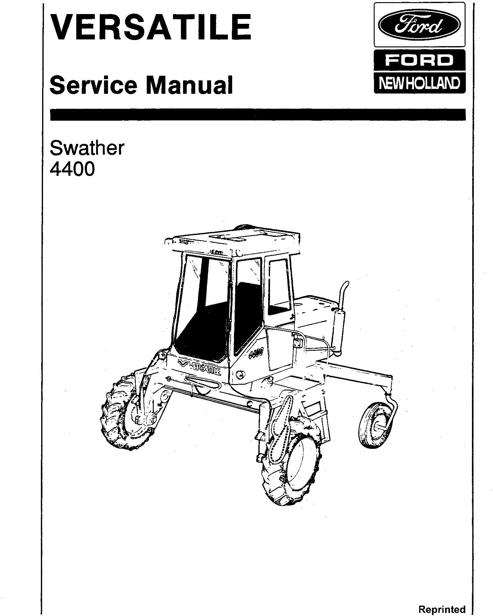 Ford Versatile Swather Gas Ampsel Service Manual