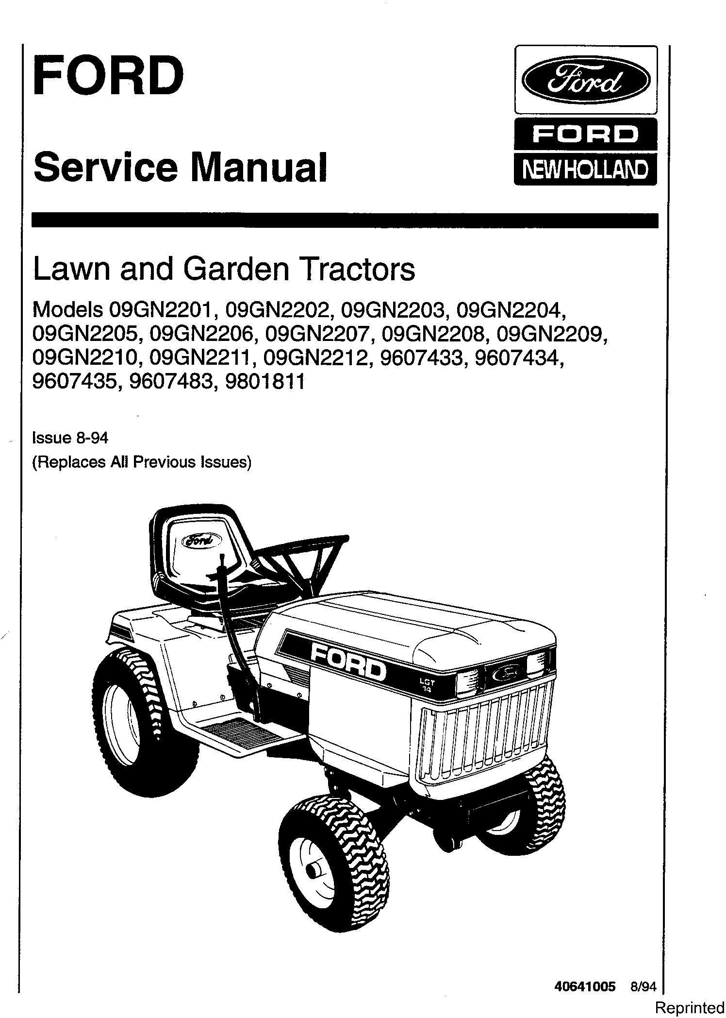 Ford Lgt12 H Lgt14 H Lgt17 H Lgt18h Lawn Amp Garden