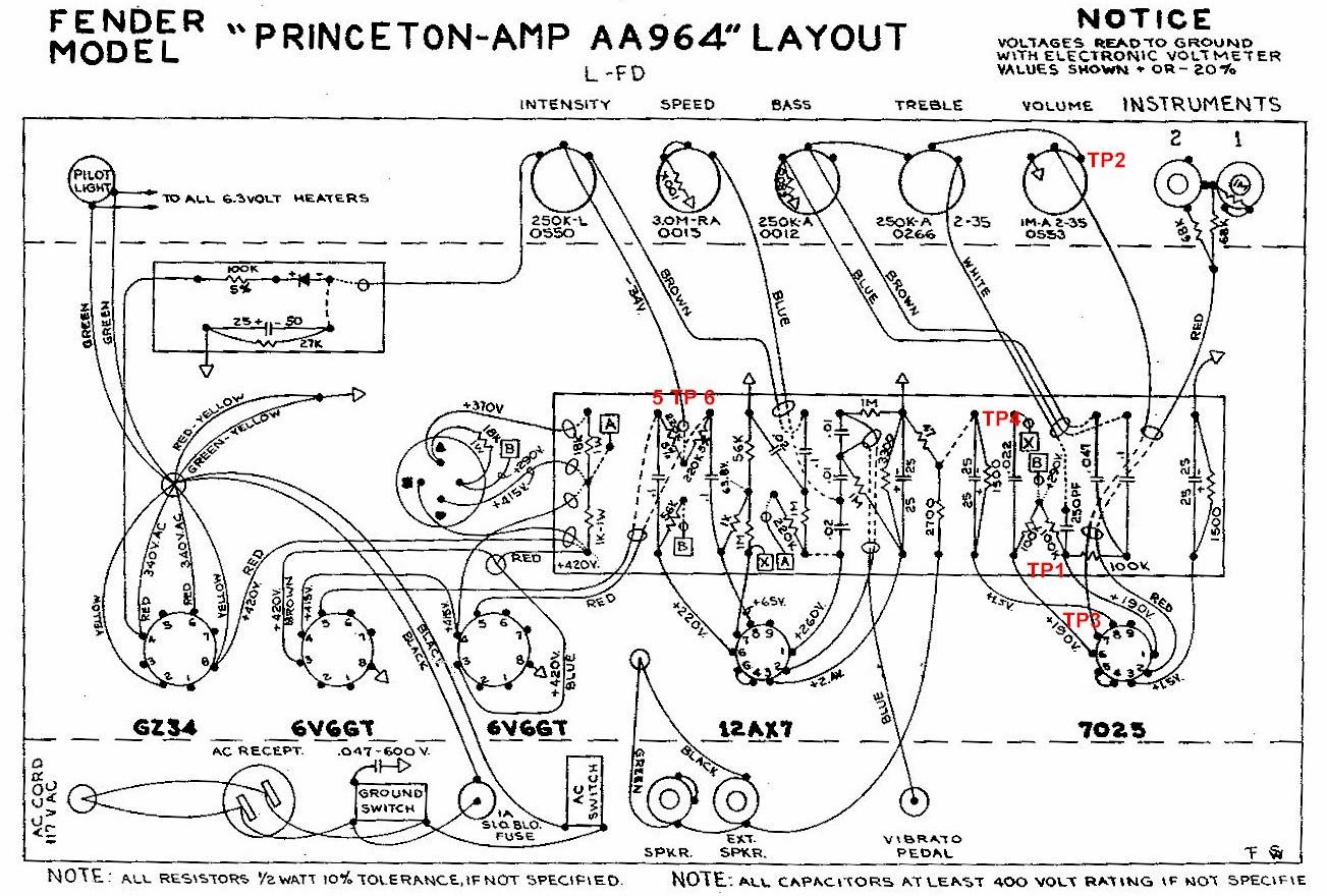Fender Princeton Aa964 Layout