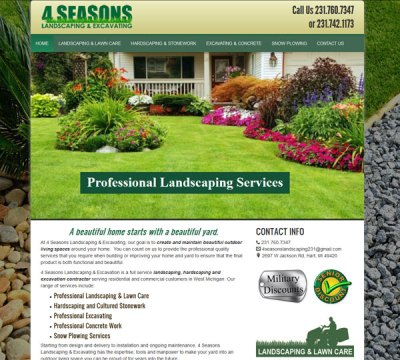 landscaping & excavating website - Hart, MI