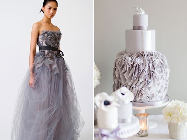 Vera Wang Aquamarine purple tulle wedding dress inspired CakesbyKrishanthi