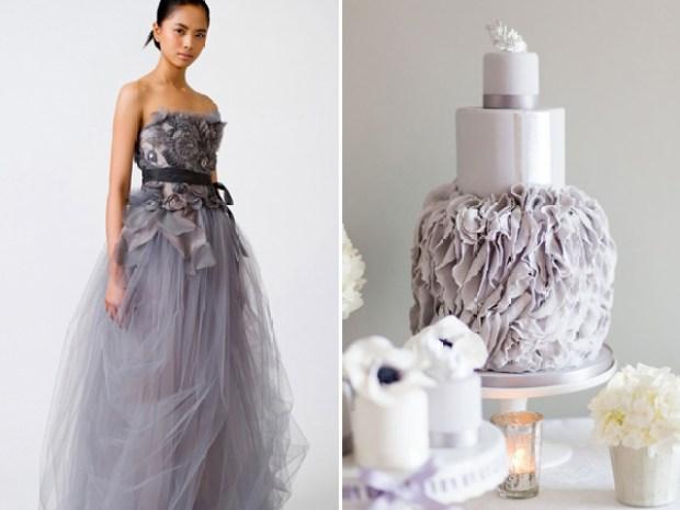Vera Wang Aquamarine purple tulle wedding dress inspired CakesbyKrishanthi