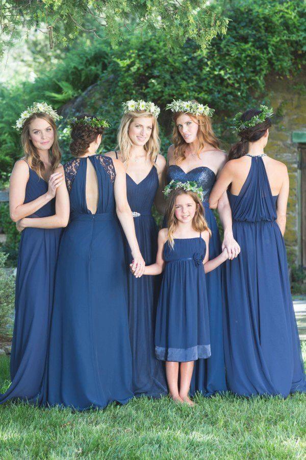 Bari Jay Navy Blue Bridesmaid Dresses