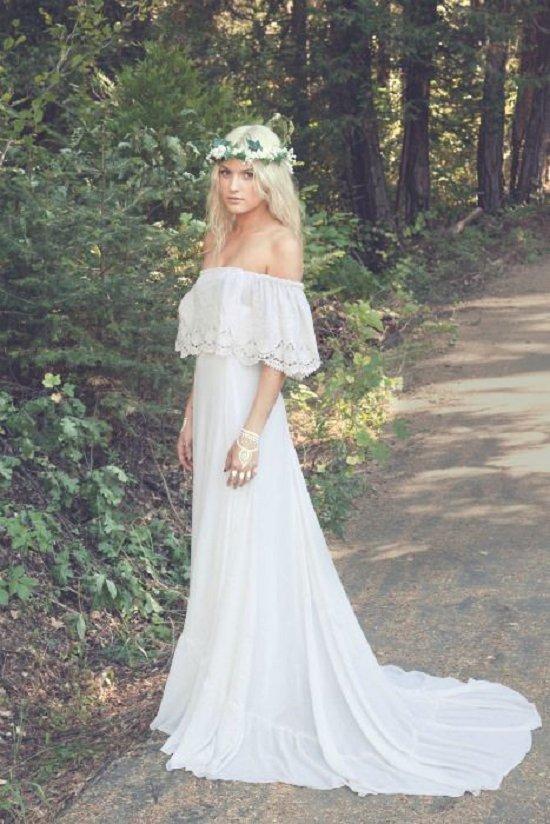 25 Whimsical Beautiful Bohemian Wedding Dresses Deer