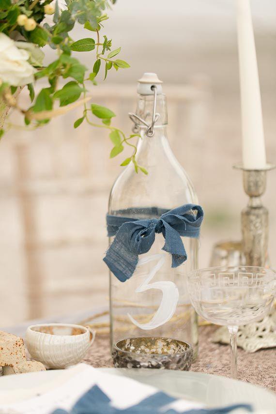 Rustic Dusty Blue Country Wedding Decor Deer Pearl Flowers