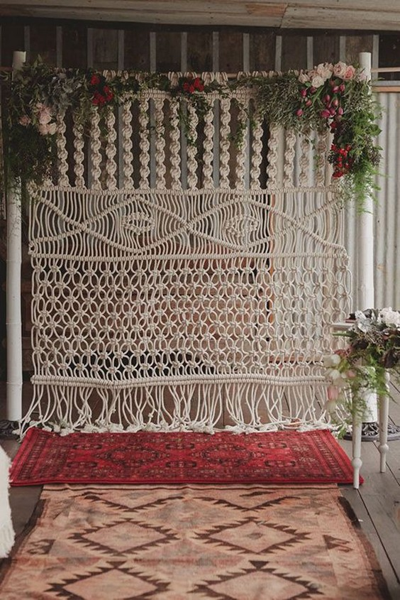 25 Bohemian Macrame Knotted Wedding Decor Ideas Deer