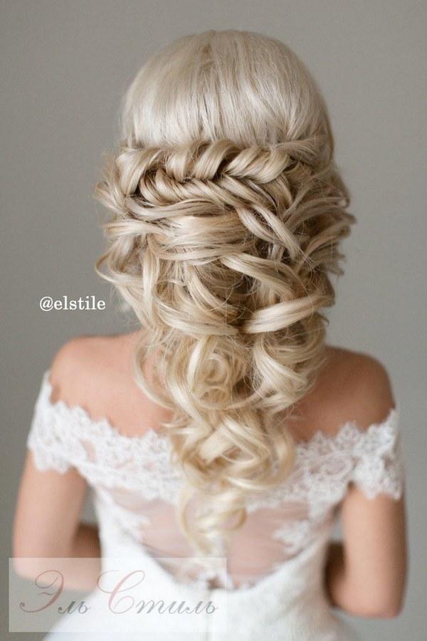 40 Stunning Half Up Half Down Wedding Hairstyles With