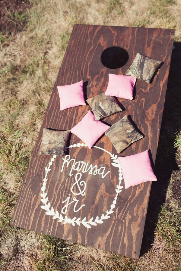 Rustic Shabby Chic Wedding Game Decor Deer Pearl Flowers