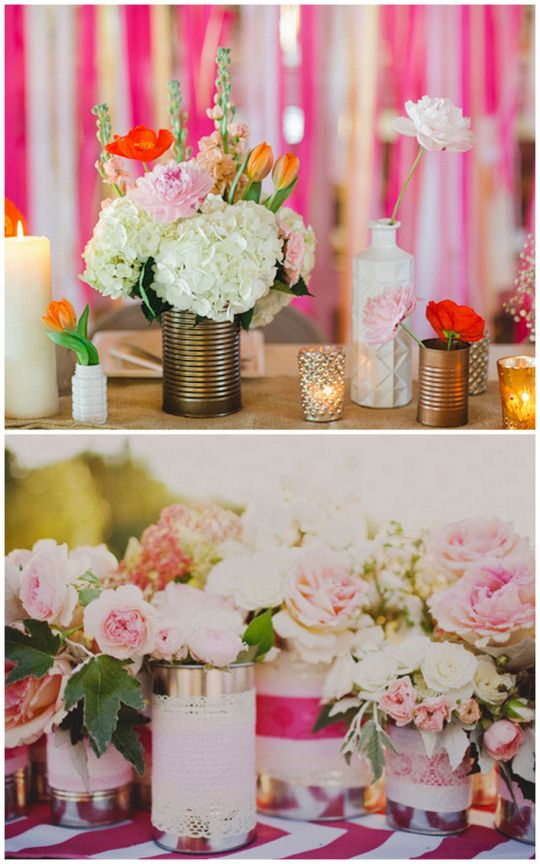 45 Charming Inexpensive Country Tin Can Wedding Ideas Deer Pearl Flowers