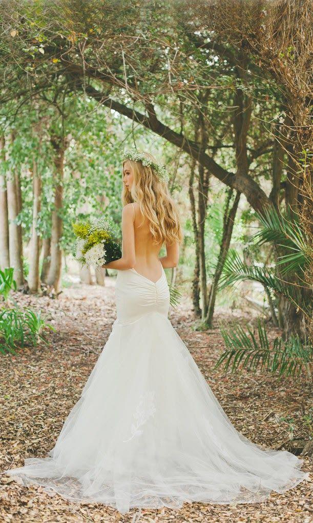 Backless Boho Mermaid Wedding Dresses By Katie May Deer