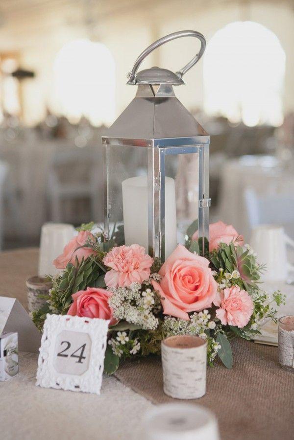 Romantic Lantern Amp Roses Candle Wedding Centerpiece Deer Pearl Flowers