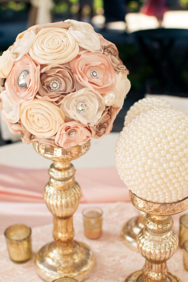 Navy And Coral Bridal Shower Decorations