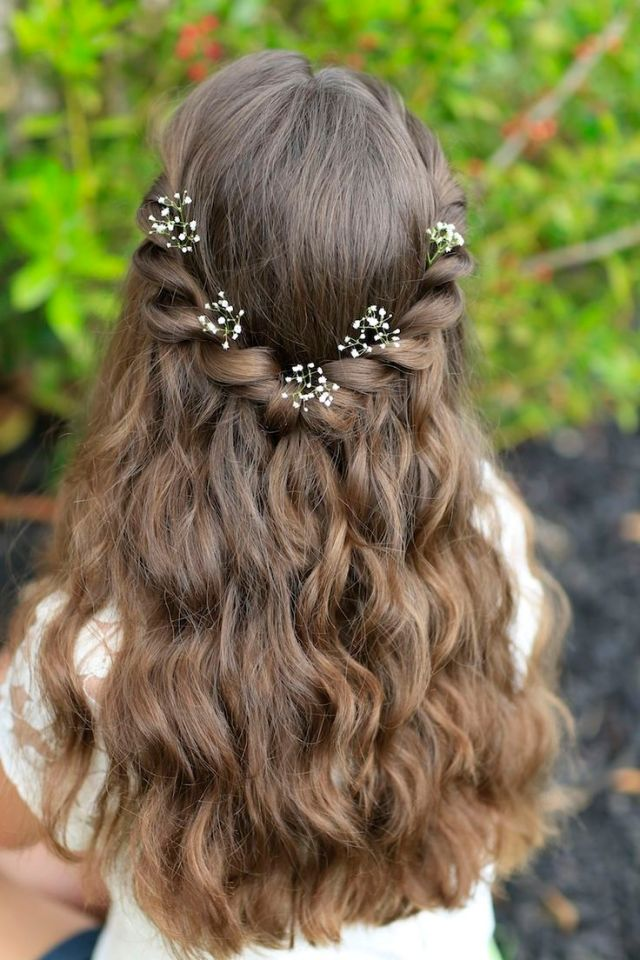 38 super cute little girl hairstyles for wedding | deer