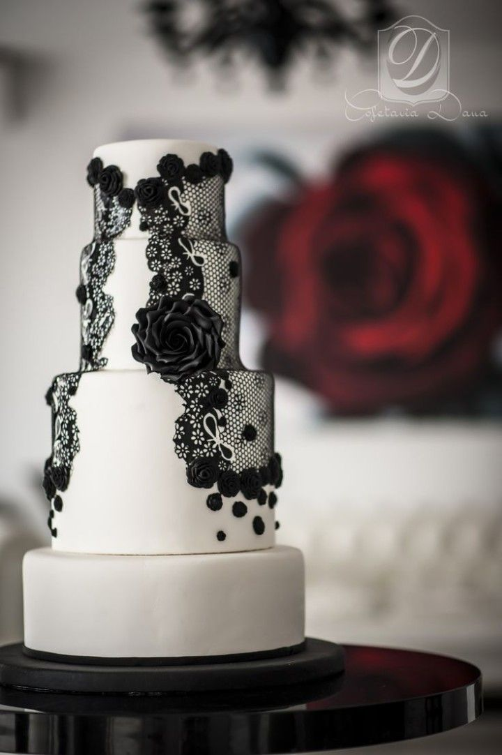 49 Amazing Black And White Wedding Cakes Deer Pearl