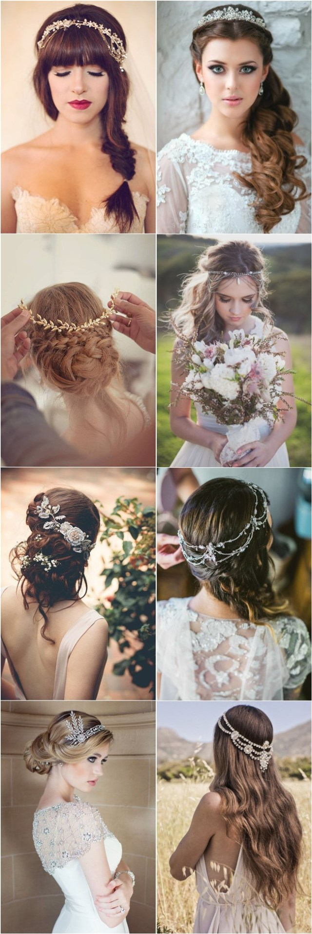 30 amazing wedding hairstyles with headpiece | deer pearl