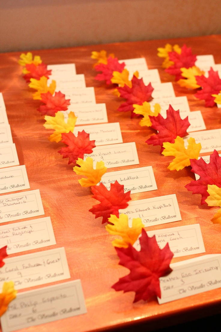 Fall Leaves Wedding Decorations