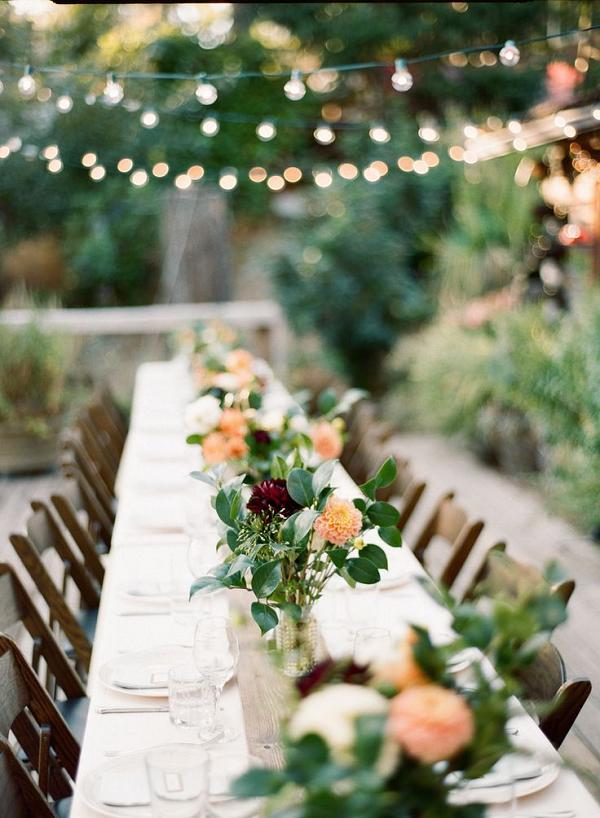 30 Woodland Wedding Table Décor Ideas | Deer Pearl Flowers on Backyard Table Decor id=31556