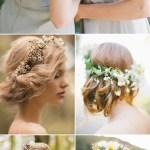 Wedding Hairdos With Flower Crowns Deer Pearl Flowers